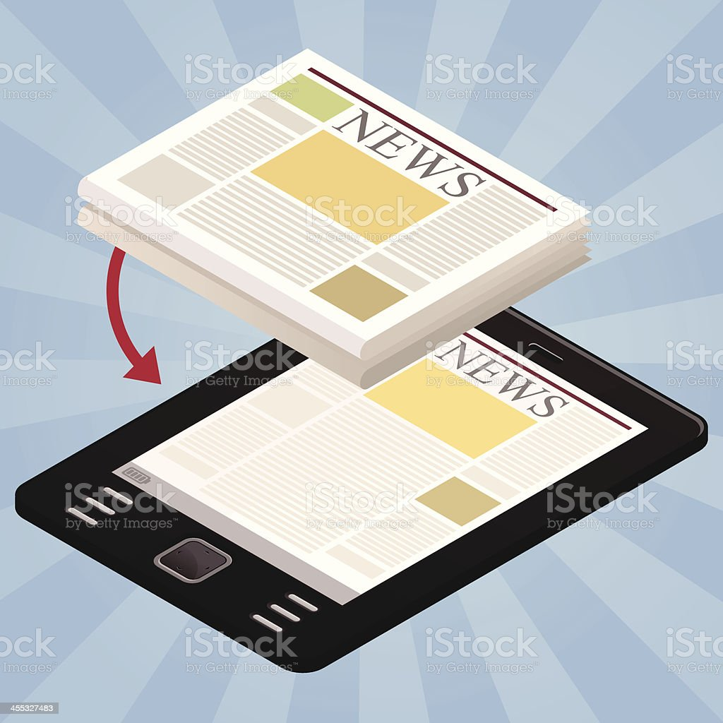News on the tablet royalty-free stock vector art