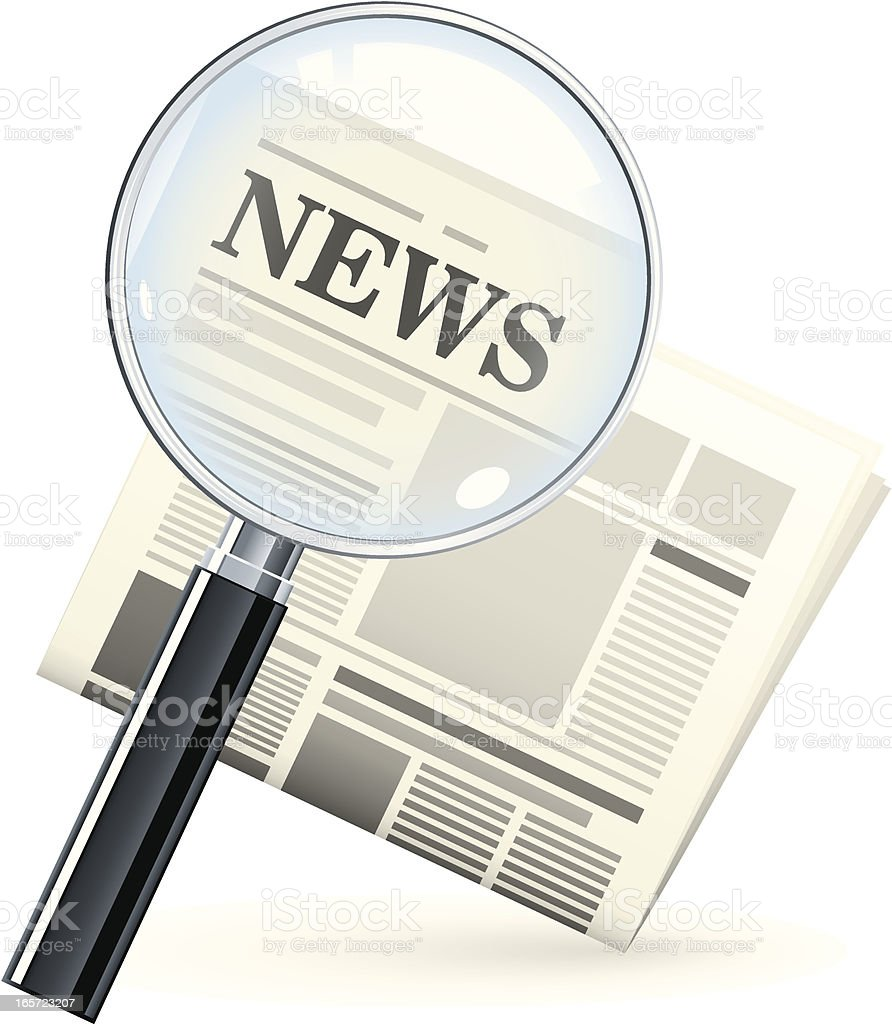 News search royalty-free stock vector art