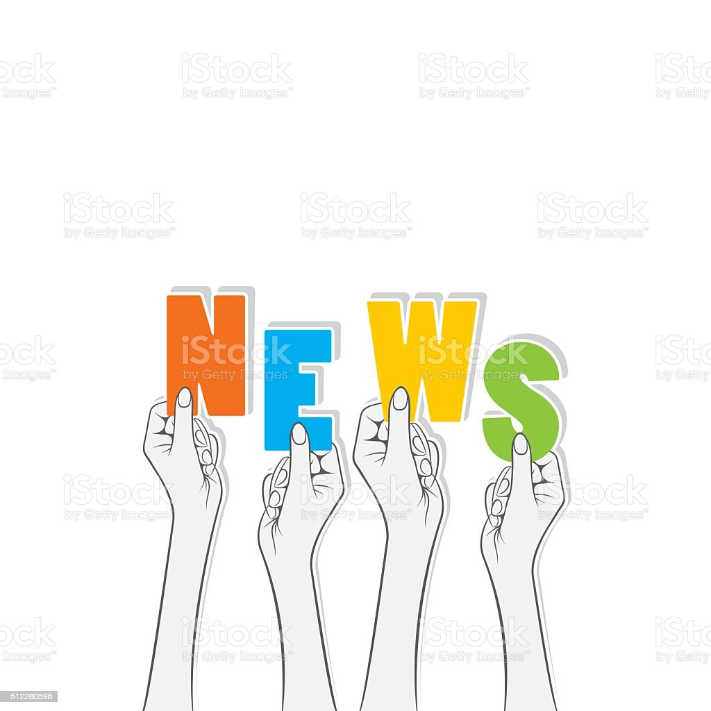 news text banner design vector art illustration