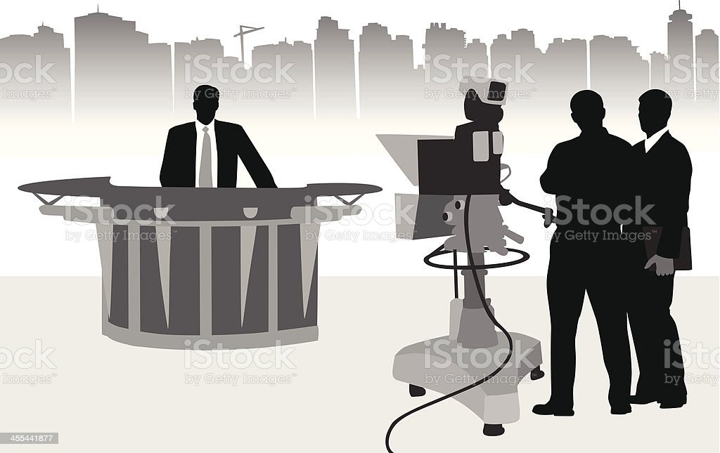 TV news royalty-free stock vector art