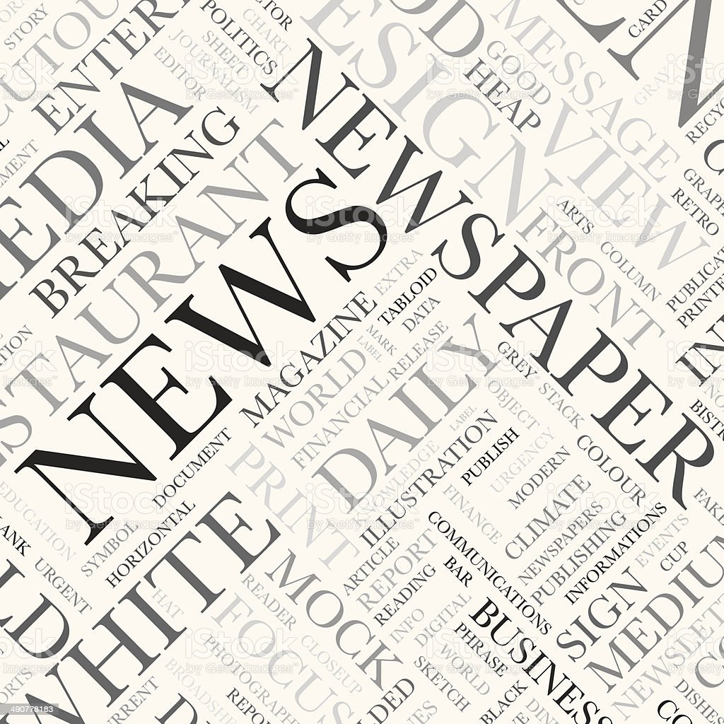 news word tag cloud vector texture background stock vector