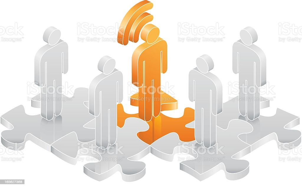 Newsfeed Connection royalty-free stock vector art