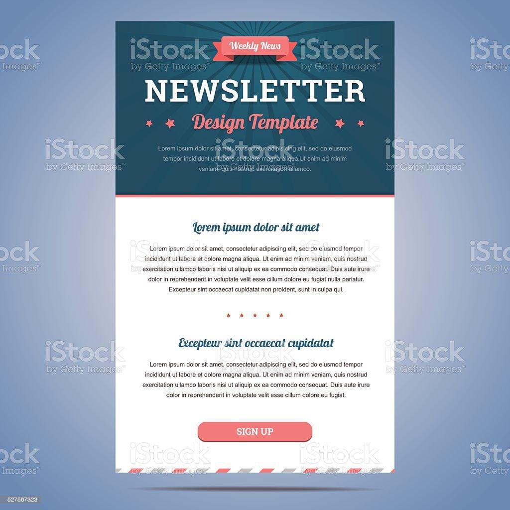 Newsletter design template vector art illustration