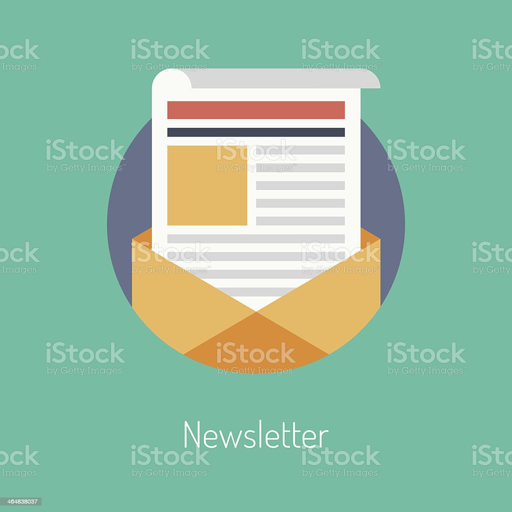 Newsletter flat illustration concept vector art illustration