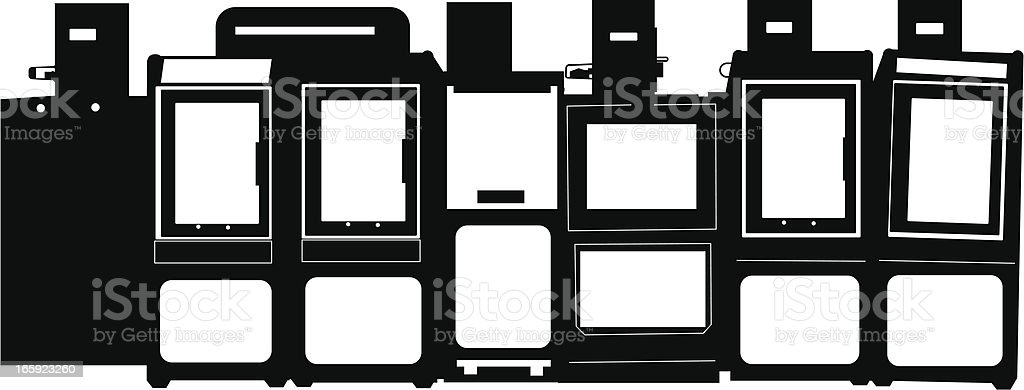 Newspaper Boxes royalty-free stock vector art