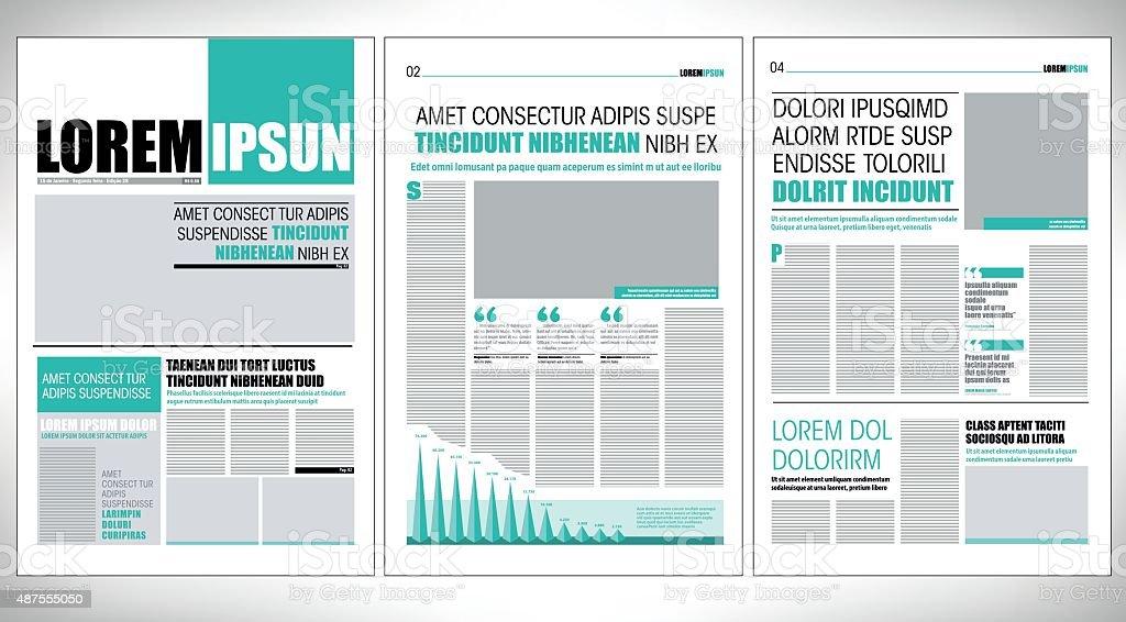 newspaper design vector art illustration