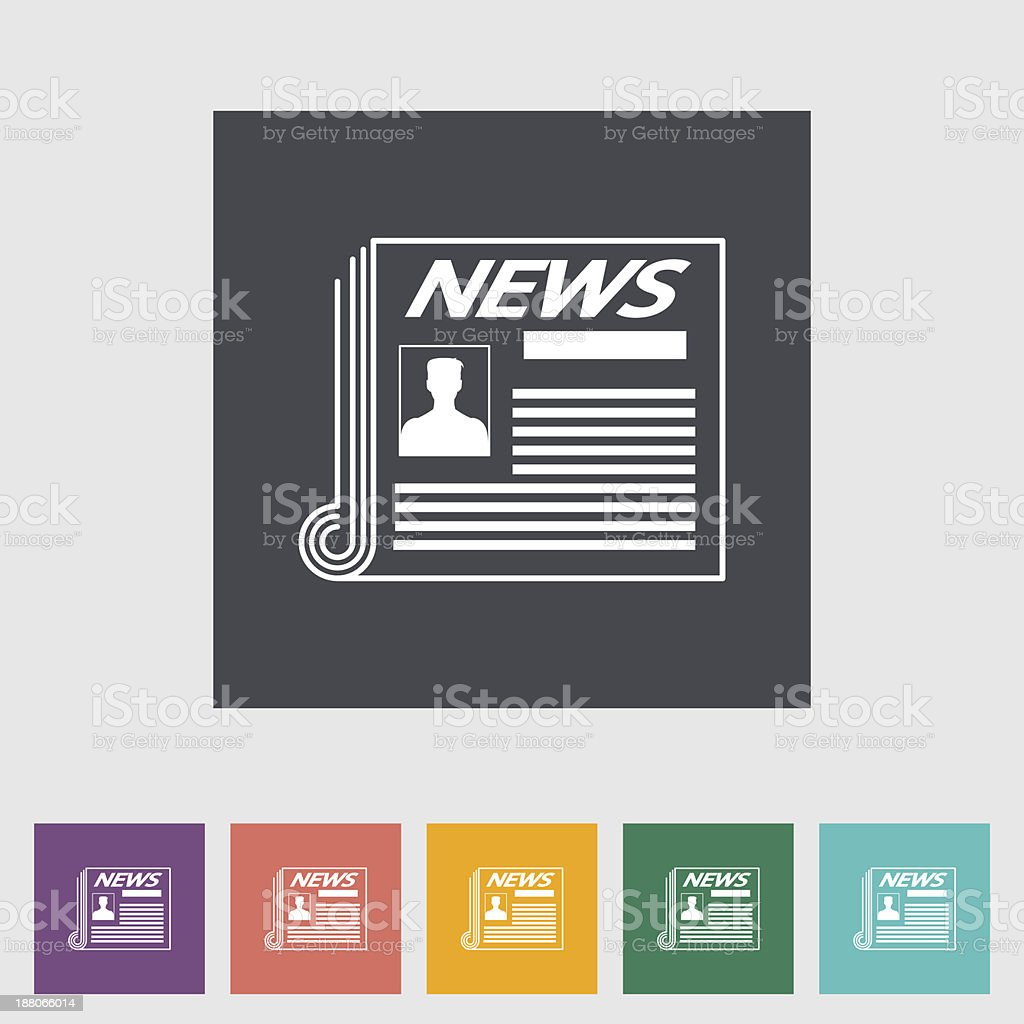 Newspaper flat icon. royalty-free stock vector art