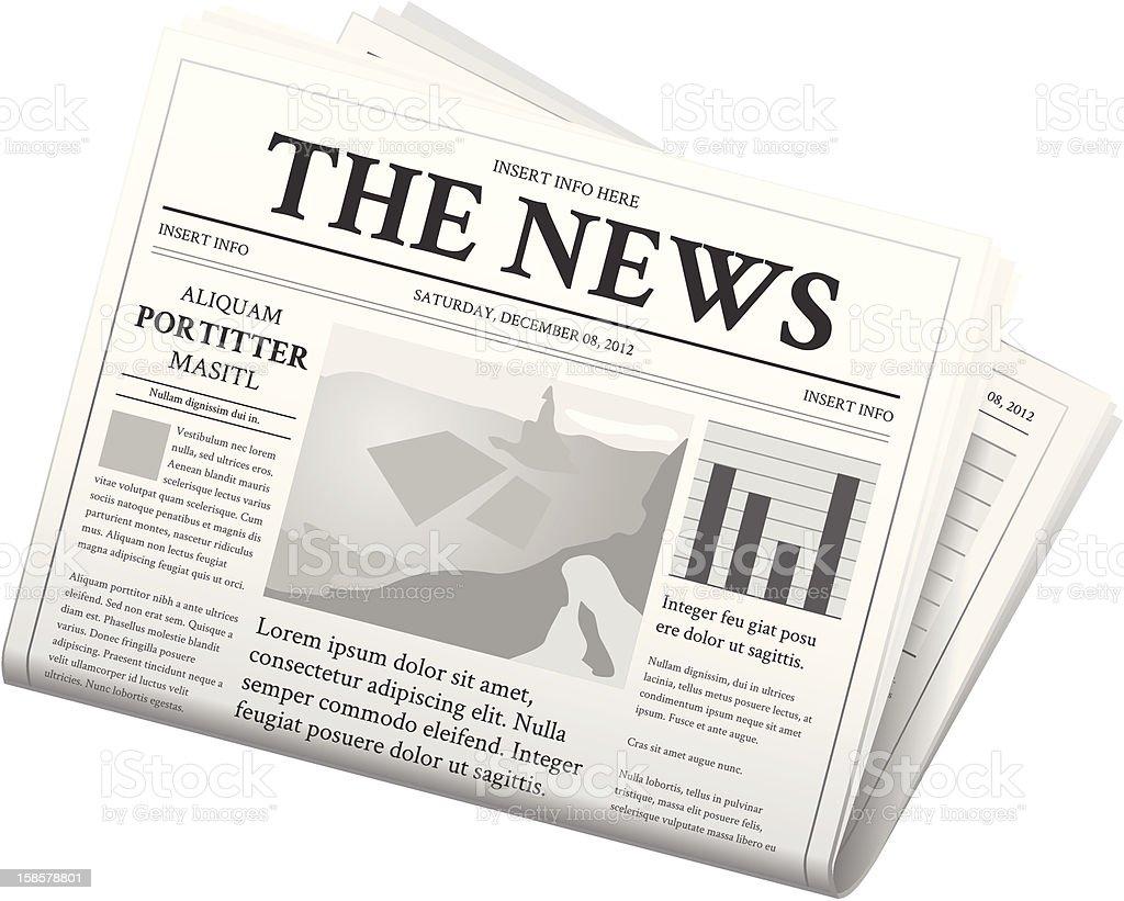 Newspaper - Folded vector art illustration