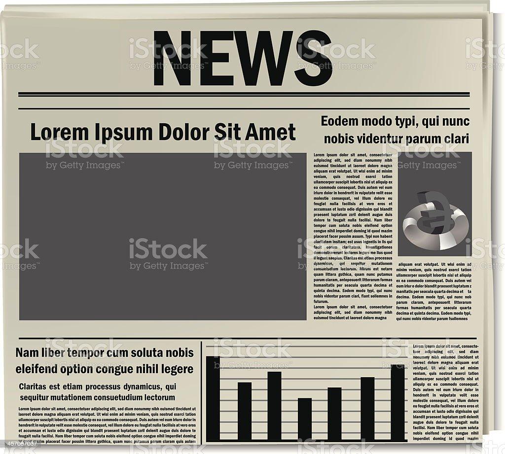 Newspaper icon, business news vector art illustration