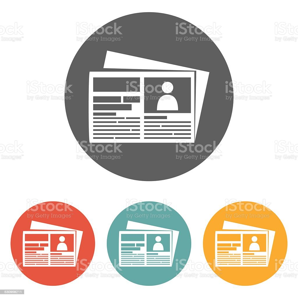 newspaper icon vector art illustration