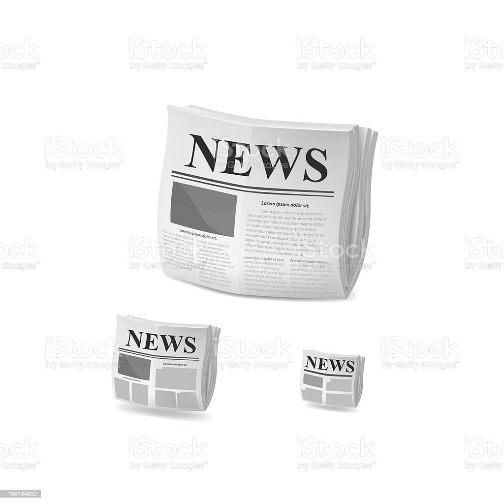 Newspaper icon. Vector royalty-free stock vector art