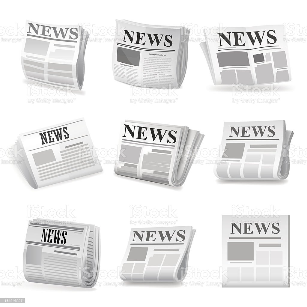 Newspaper icon. Vector vector art illustration