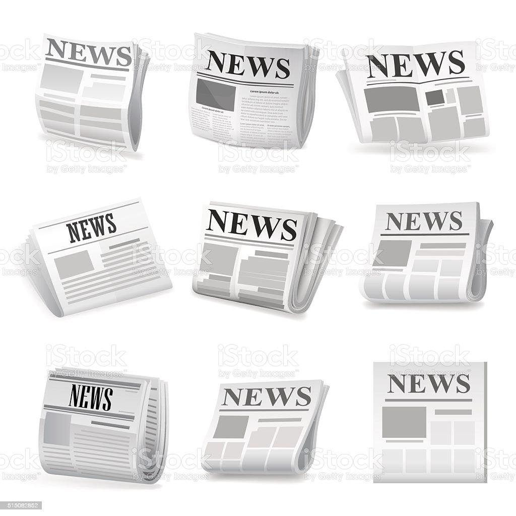 Newspaper icon. Vector vector art illustration