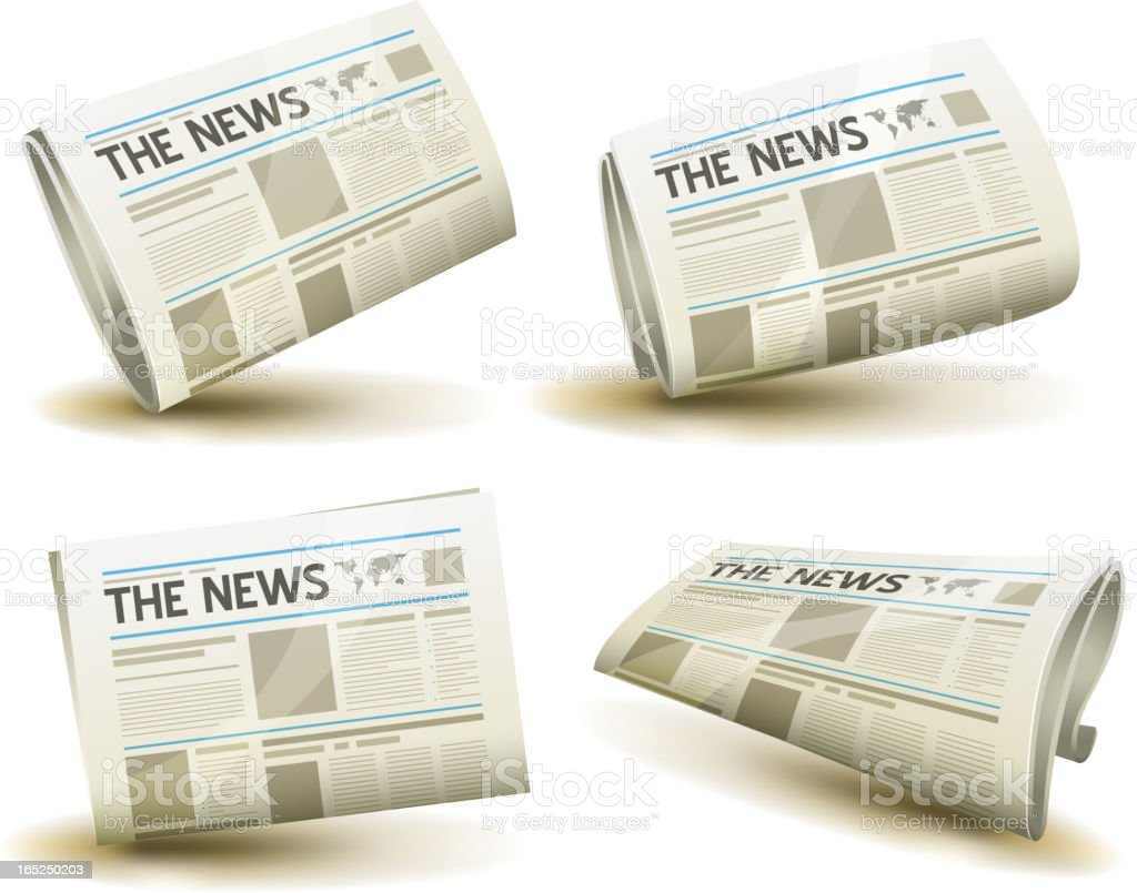 Newspaper Icons Set royalty-free stock vector art