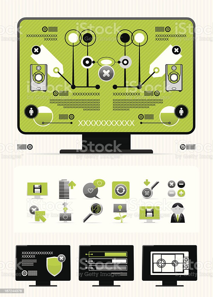 newspaper infographics royalty-free stock vector art