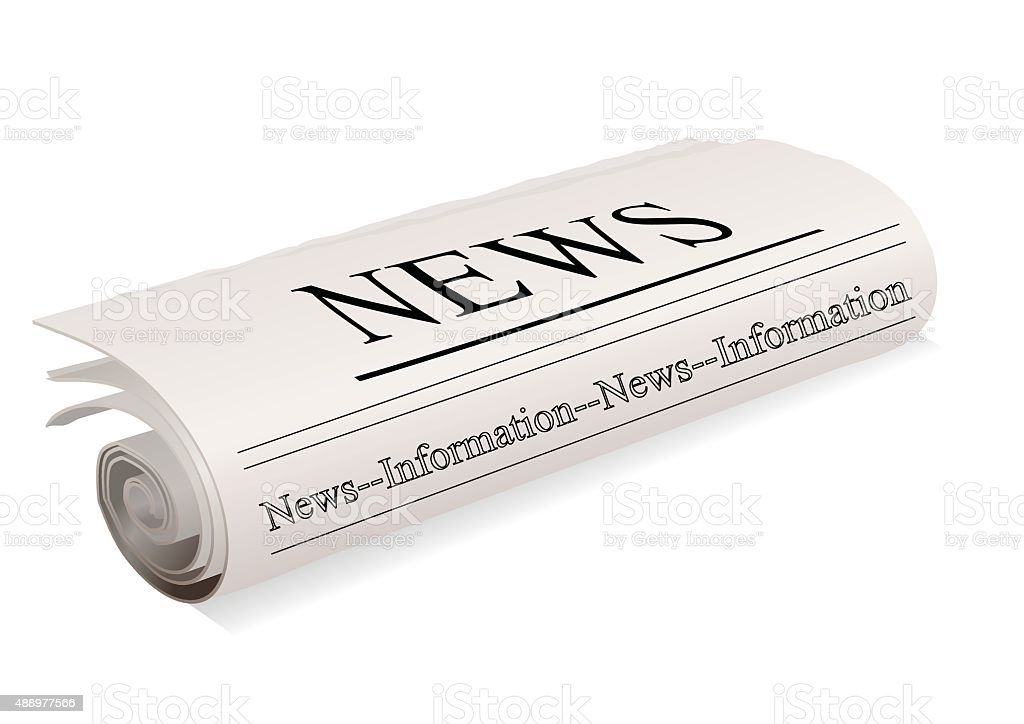 Newspaper. Newspaper On White Vector Art Illustration Newspaper
