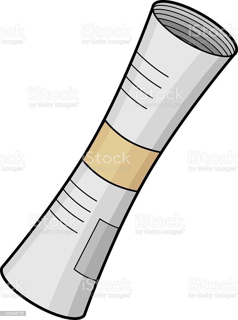 newspaper roll vector art illustration