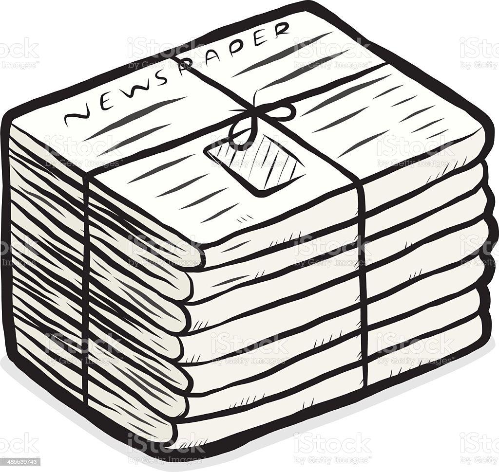 newspaper stack vector art illustration