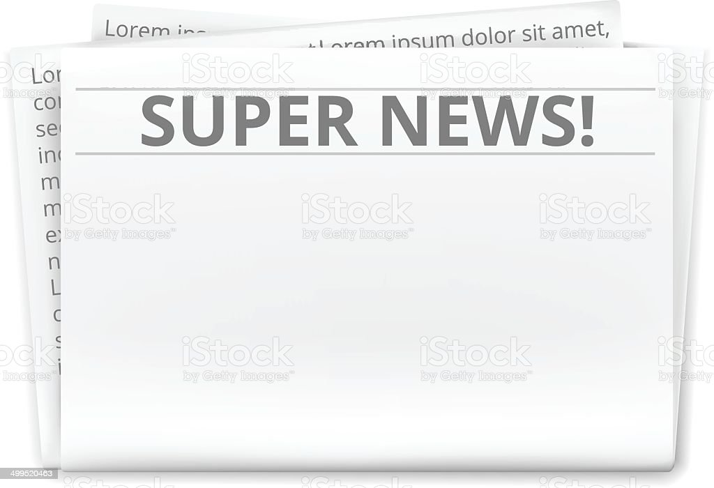 Newspaper Front Page Clip Art, Vector Images & Illustrations - Istock