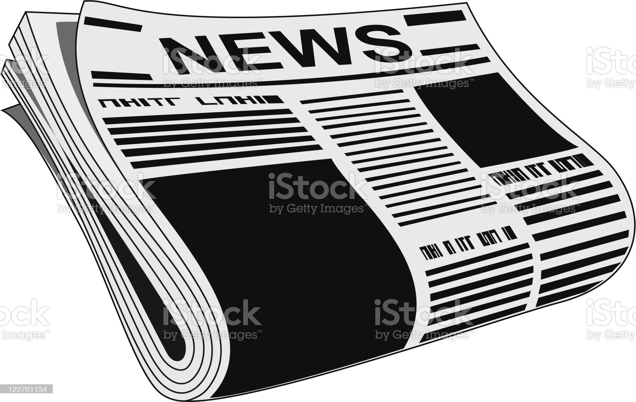 Newspaper royalty-free stock vector art