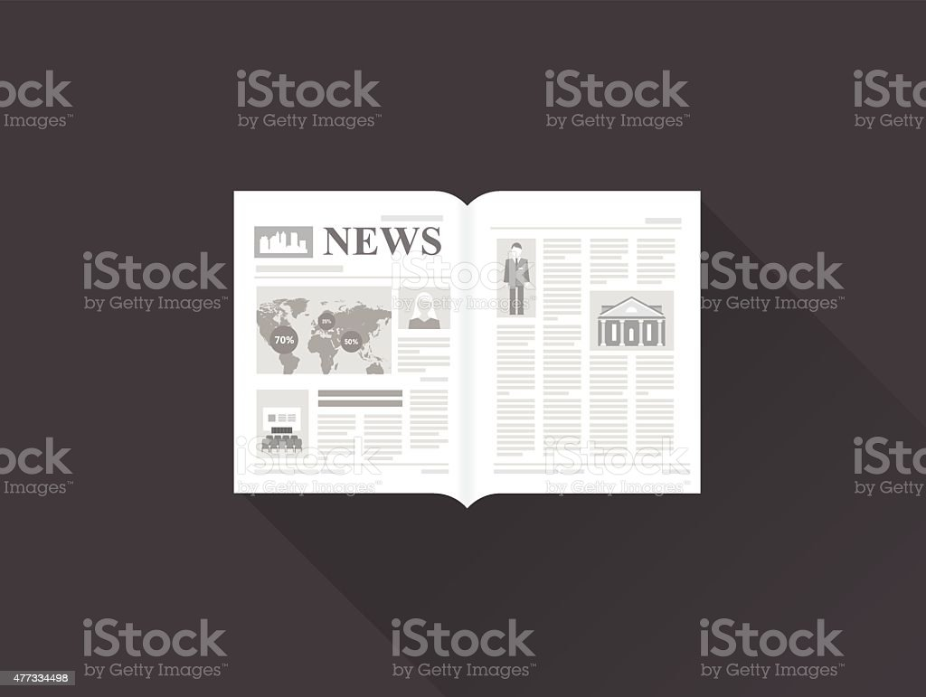 newspaper vector art illustration