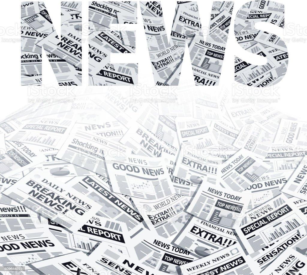 Newspaper vector art illustration