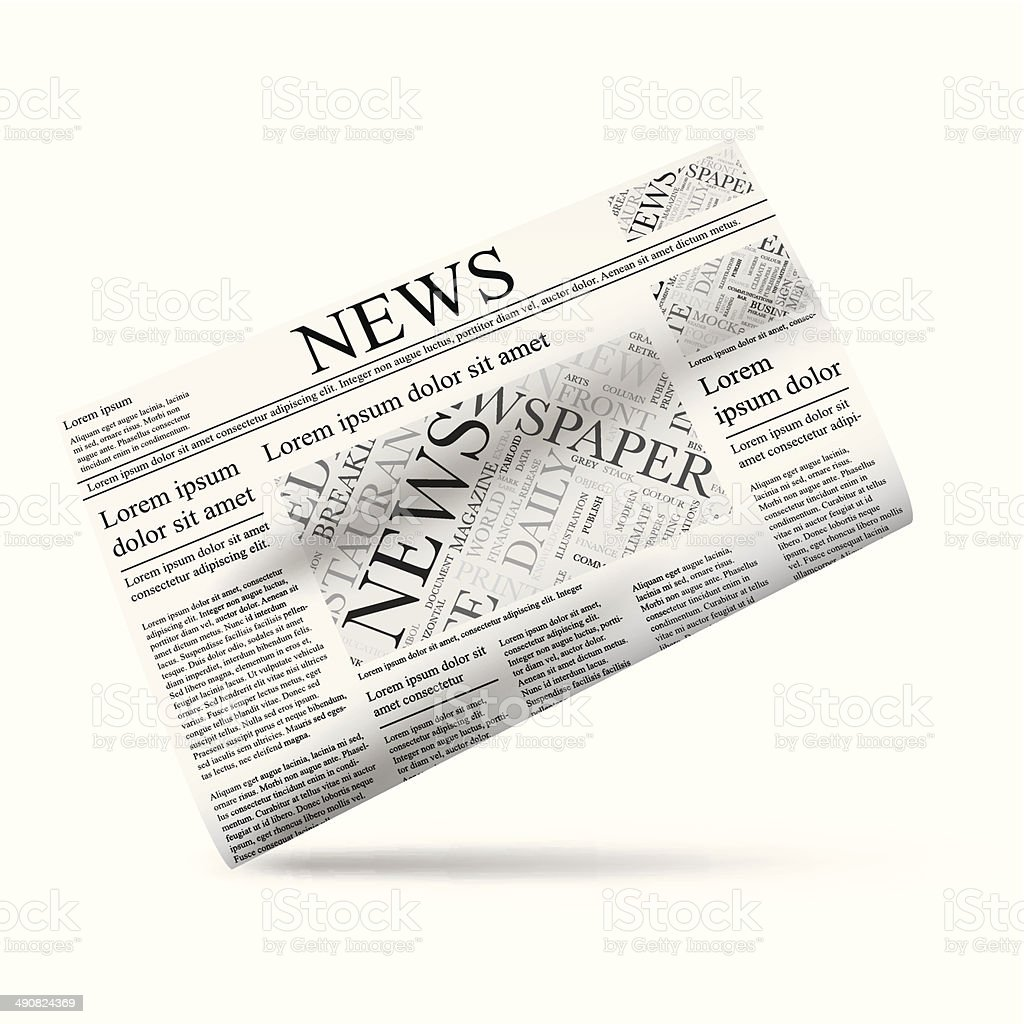 Newspaper vector illustration icon template royalty-free stock vector art