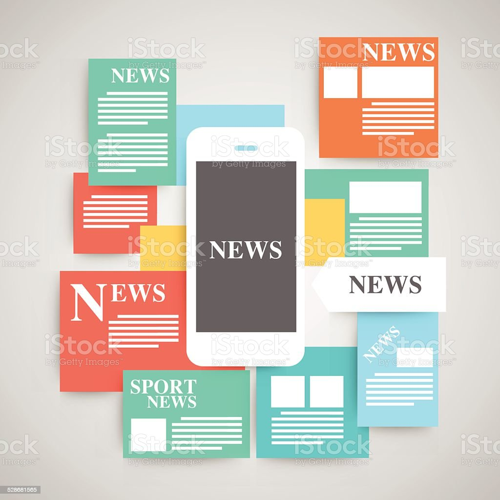 Newspaper vector set. vector art illustration