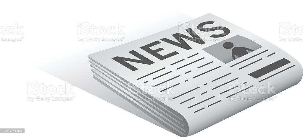 Newspaper [vector] royalty-free stock vector art