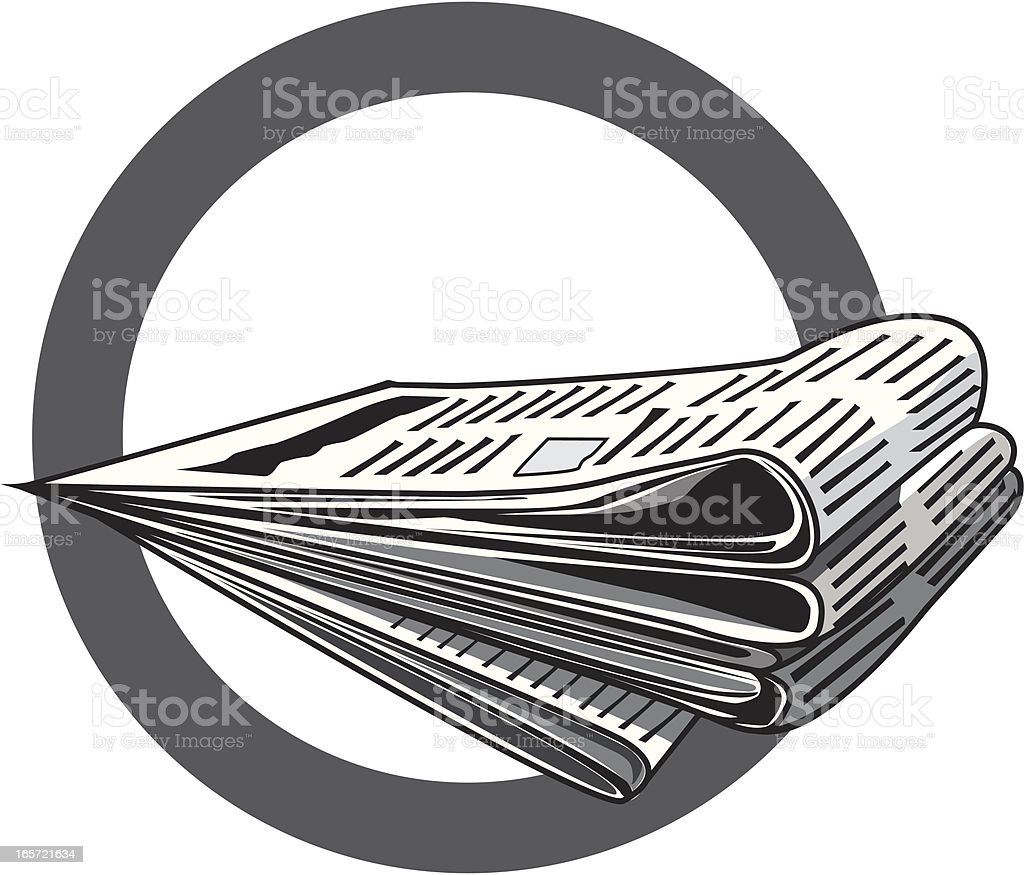 Newspapers royalty-free stock vector art