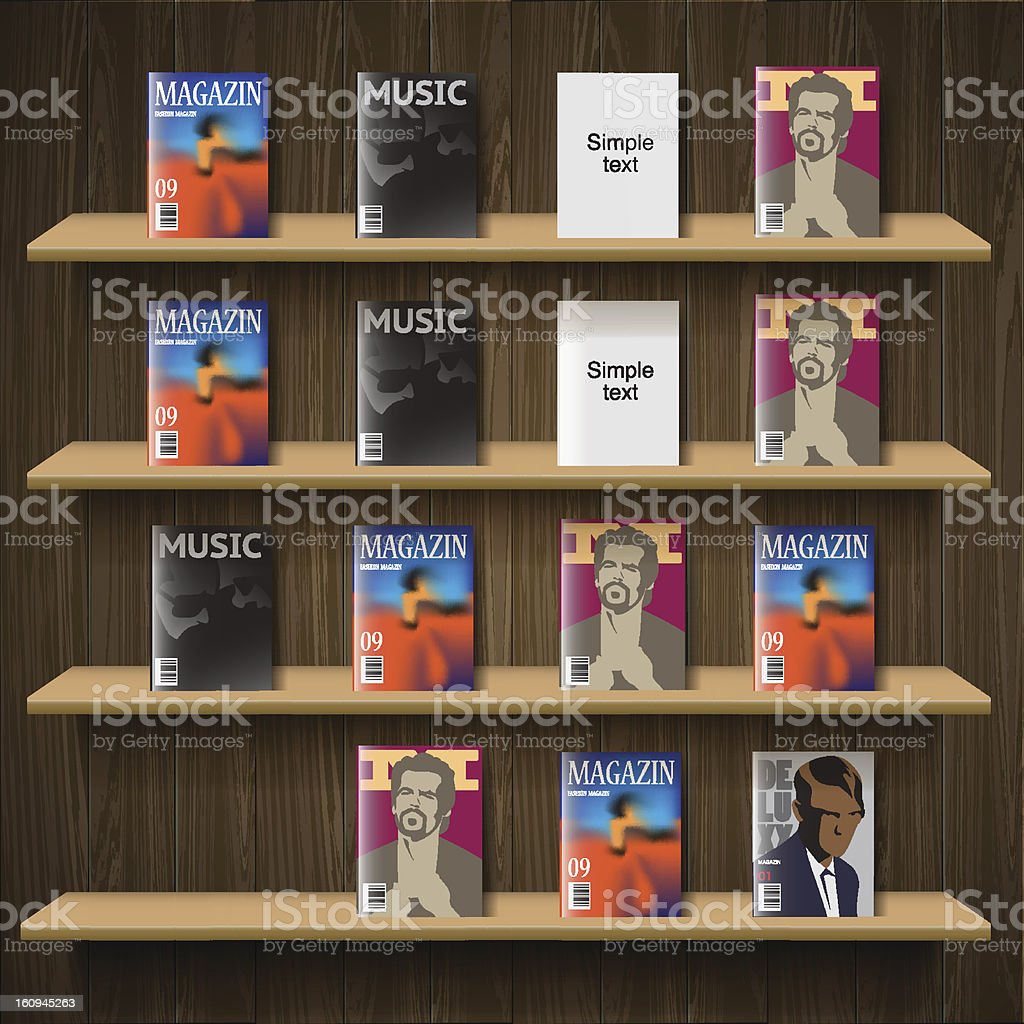 Newsstand, vector Eps10 illustration. stock photo