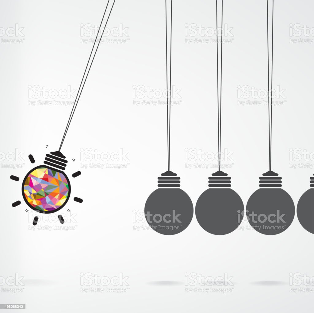 Newton's cradle concept on background vector art illustration