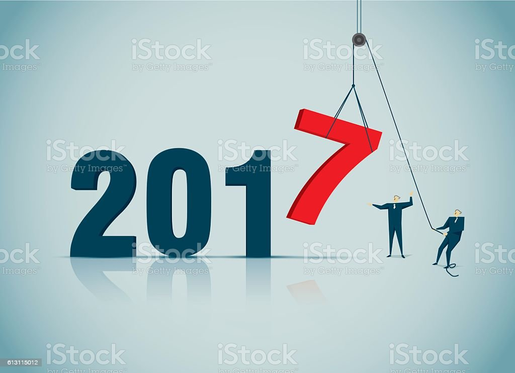 New-Year vector art illustration