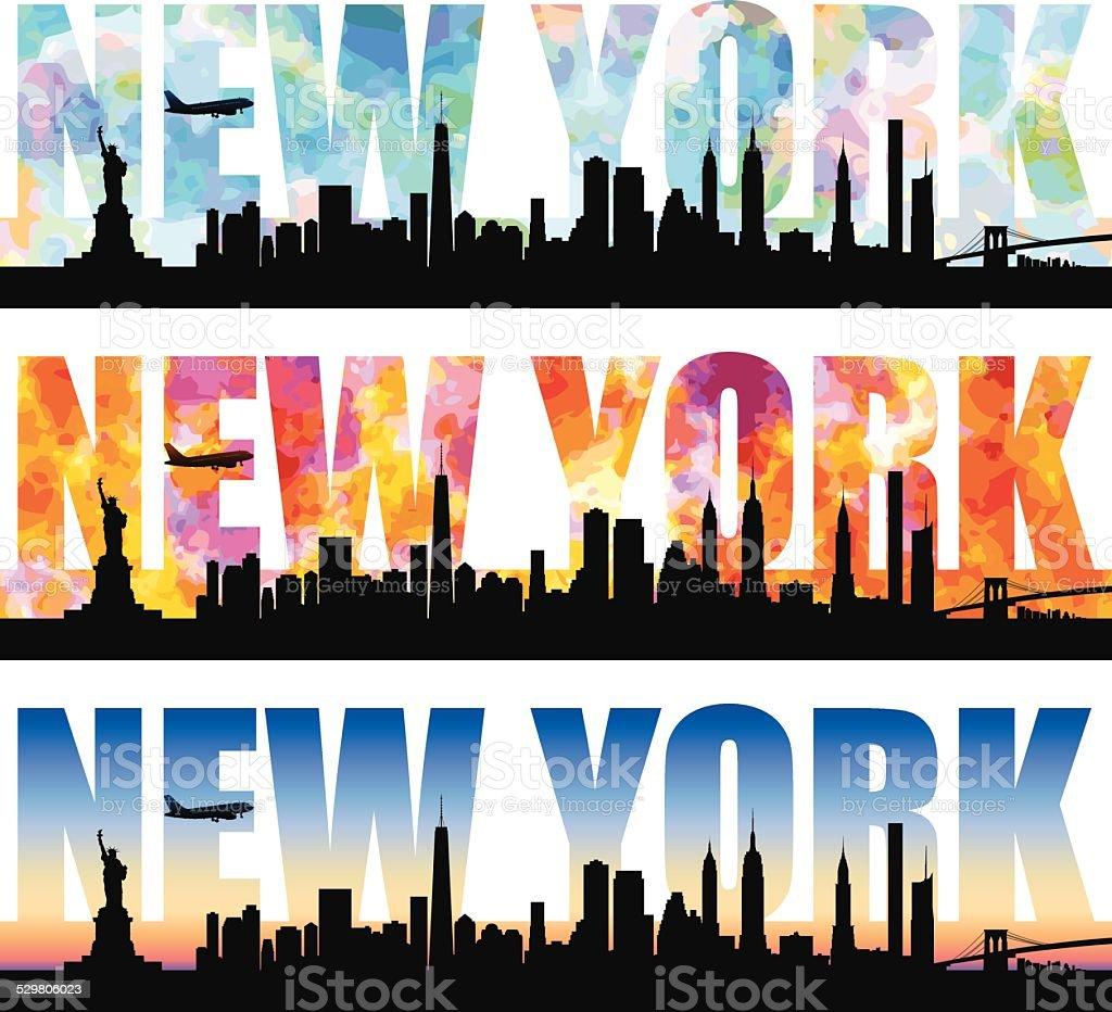 NewYork Word vector art illustration