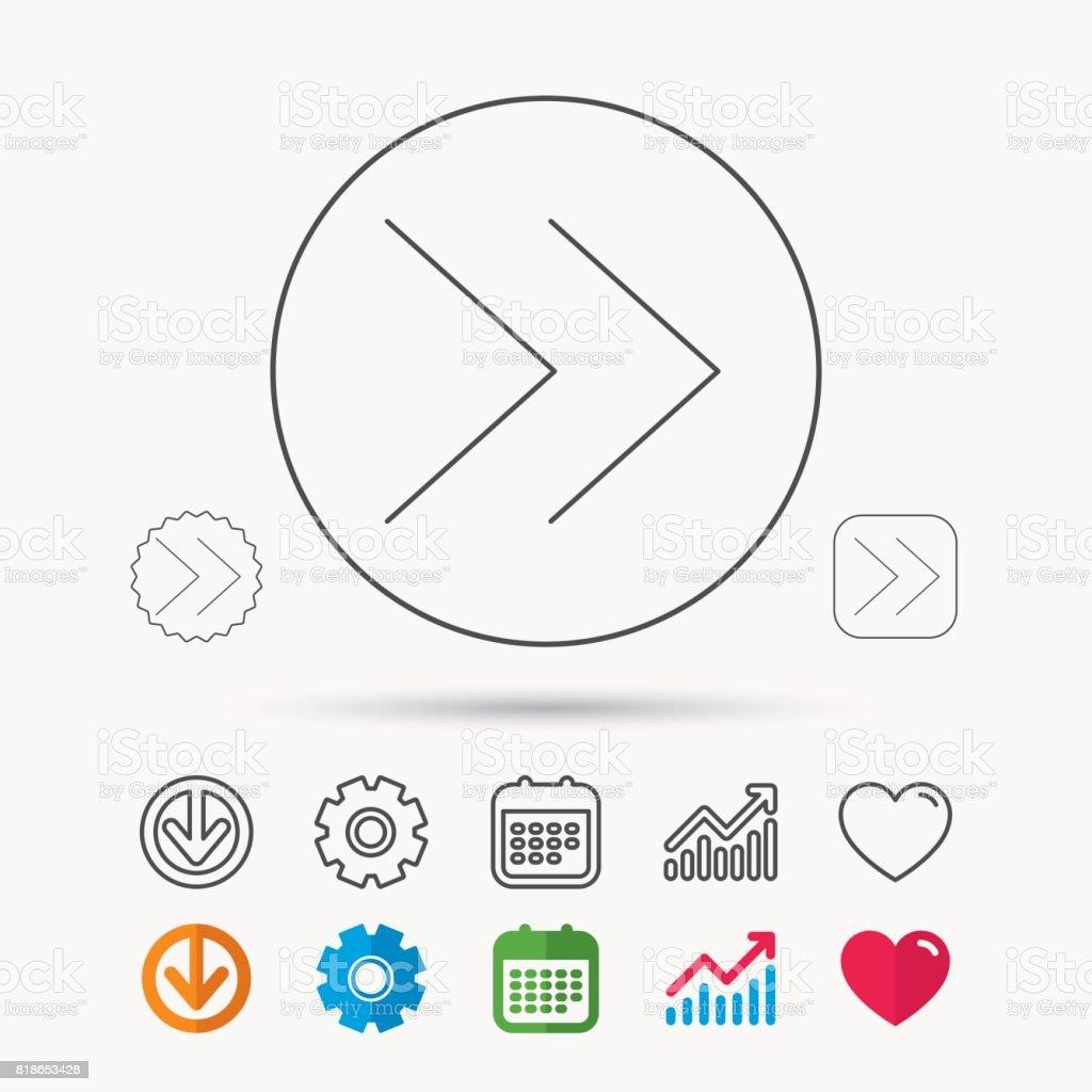 Next arrow icon. Forward sign. vector art illustration