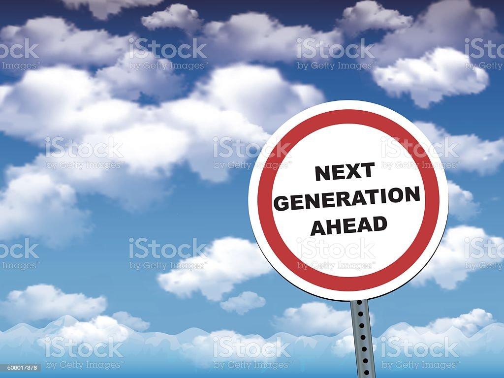 next generation ahead vector art illustration