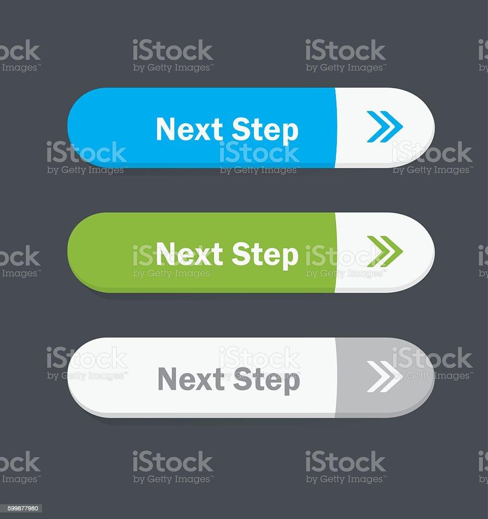 Next Step. Vector button. vector art illustration