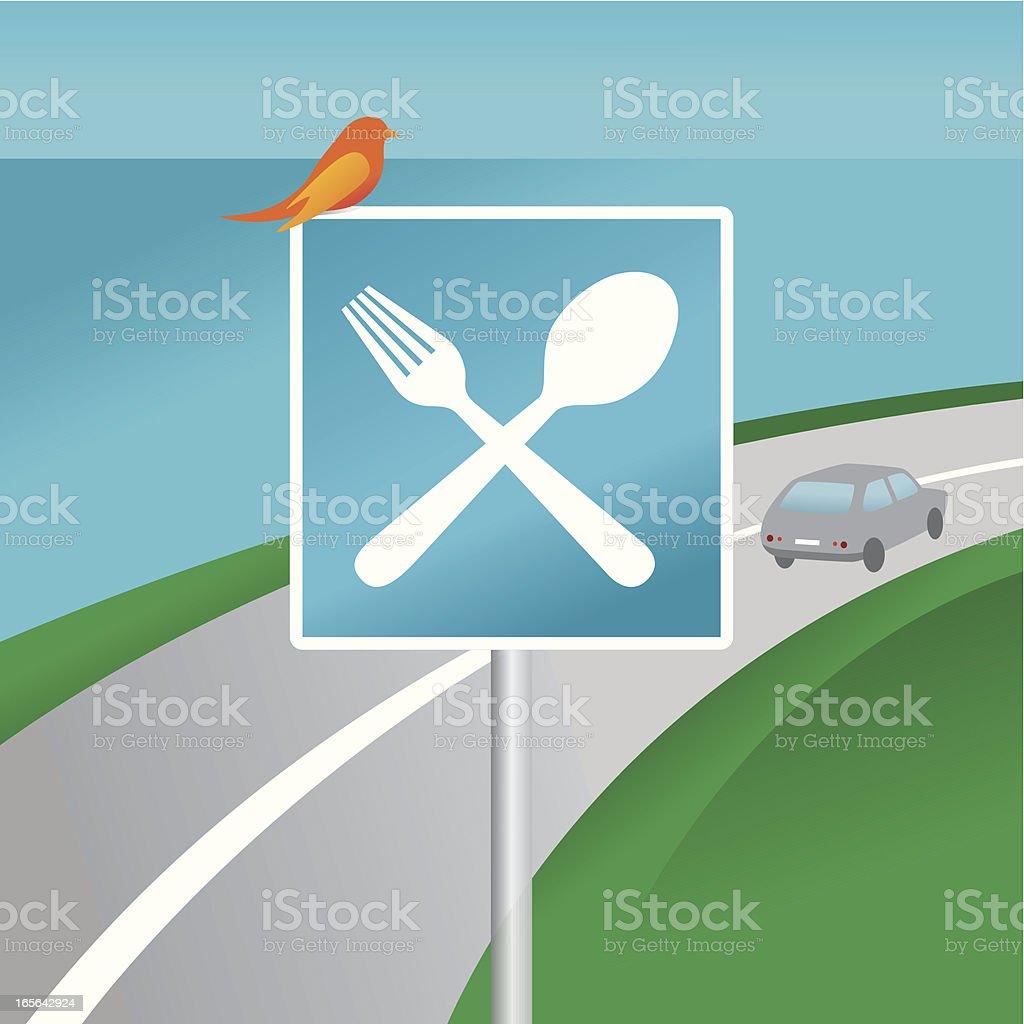 Next stop: restaurant! vector art illustration