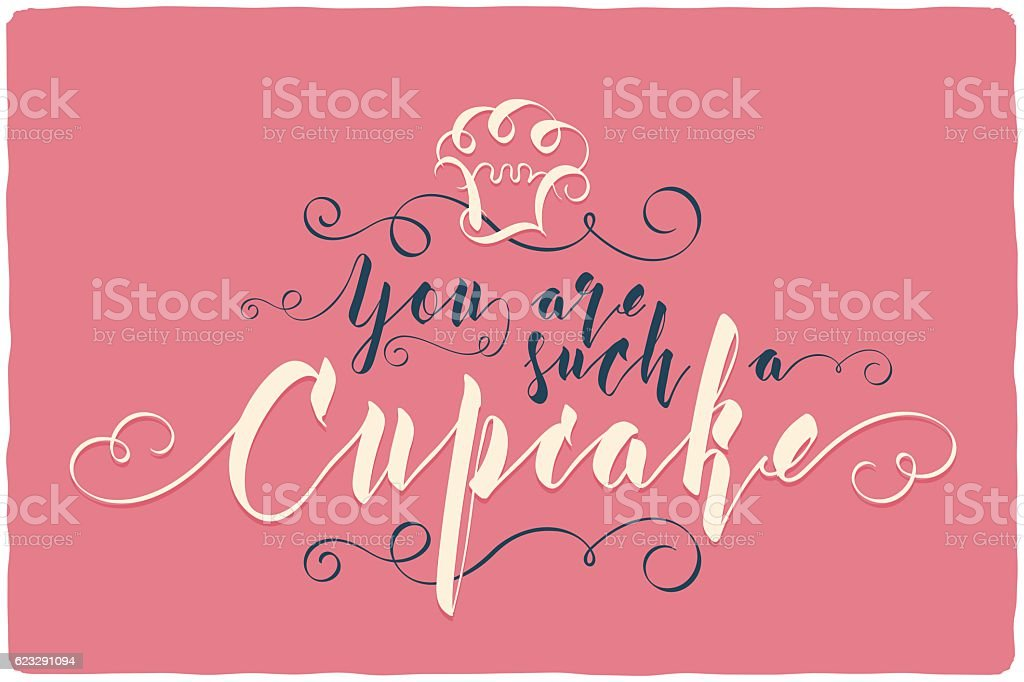 Nice calligraphic lettering composition with text vector art illustration
