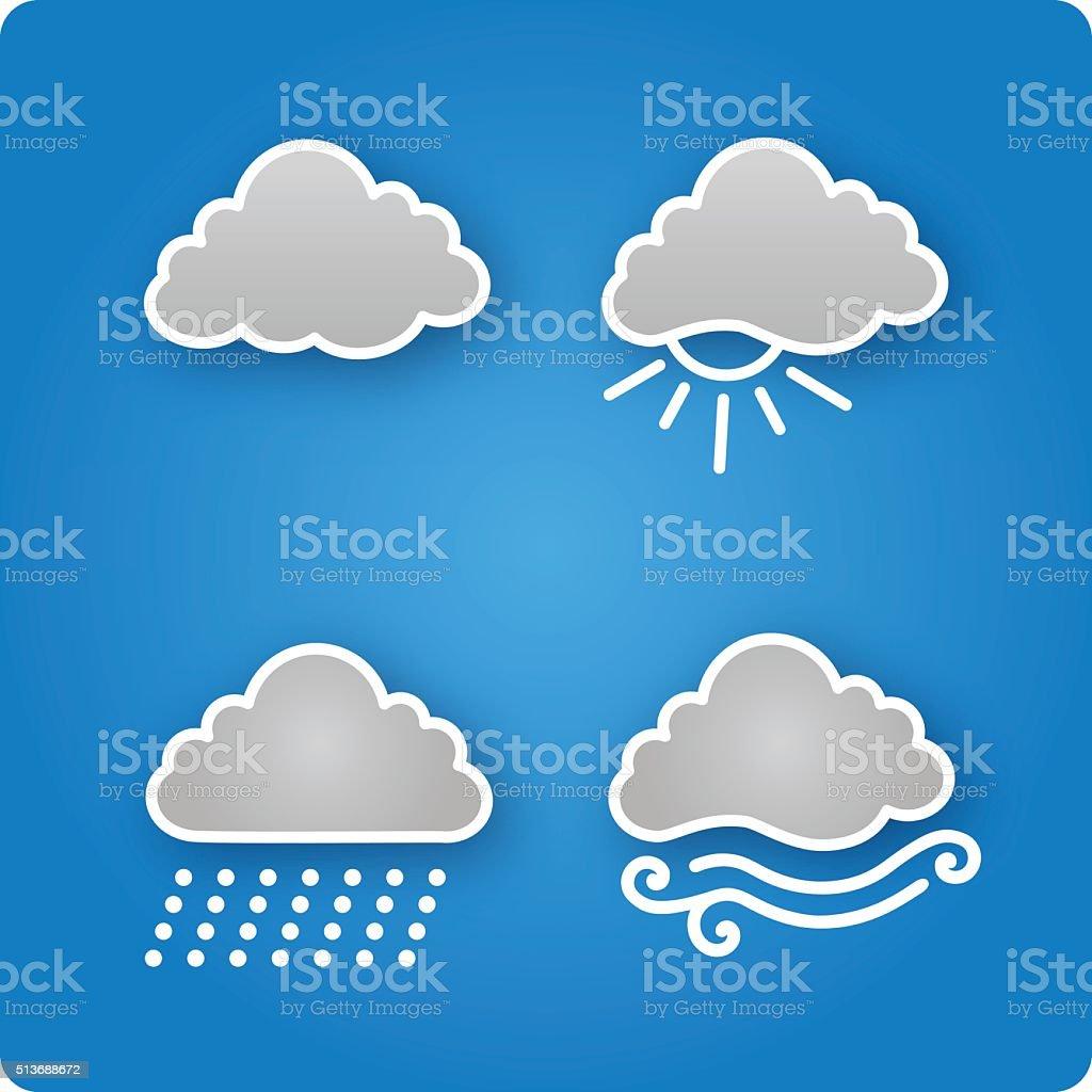 Nice cloud symbols vector art illustration