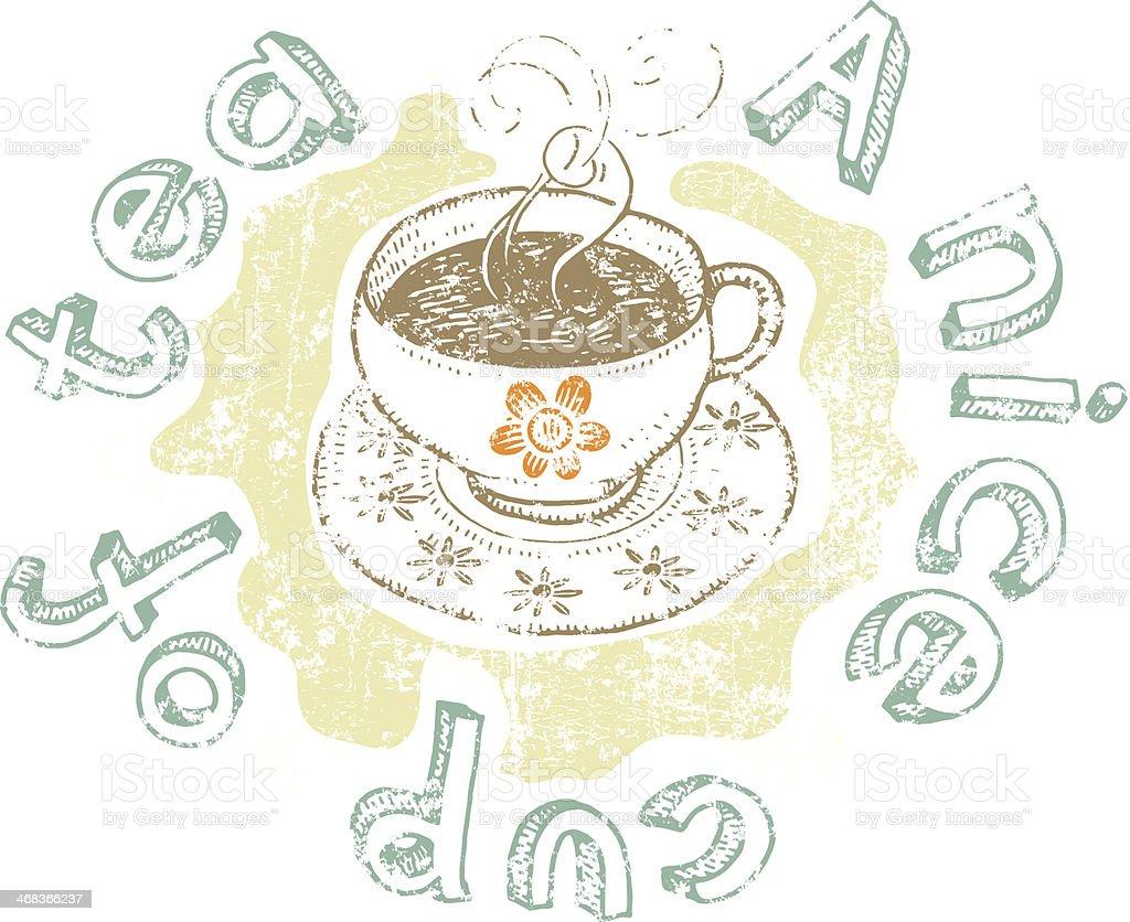 Nice cup of tea royalty-free stock vector art