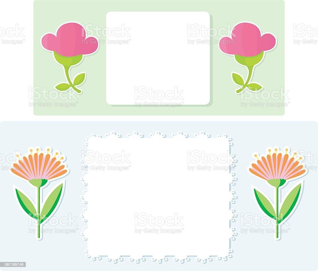 nice Flowerlabels vector art illustration