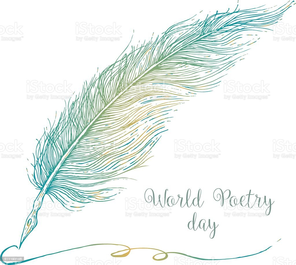 Nice graphic feather vector art illustration