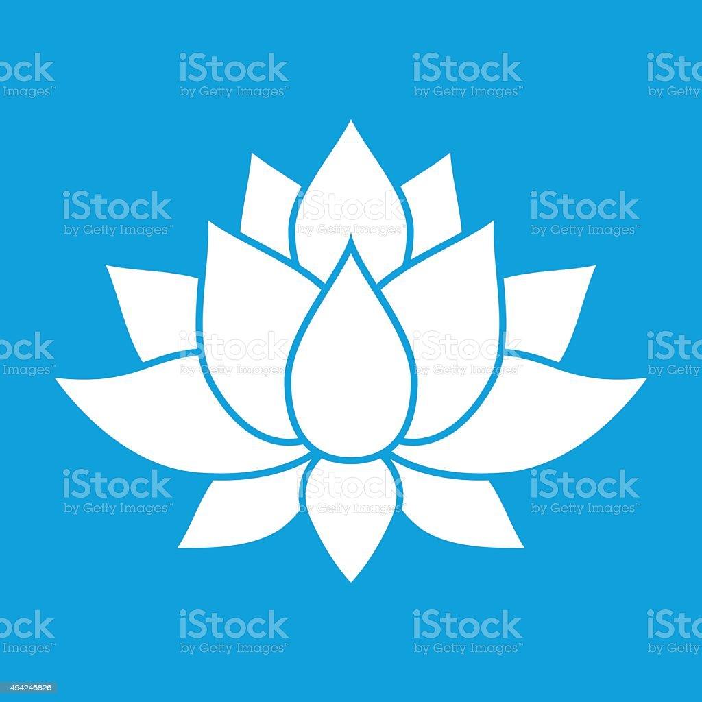 Nice lotus flower sign vector art illustration