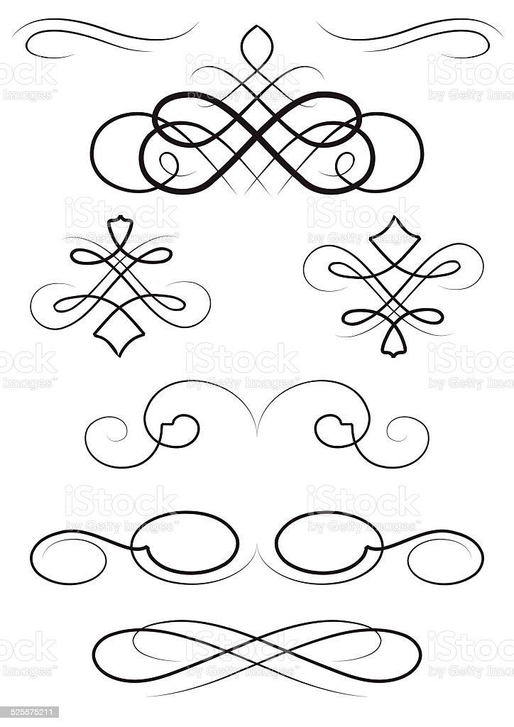 nice ornaments elements vector art illustration