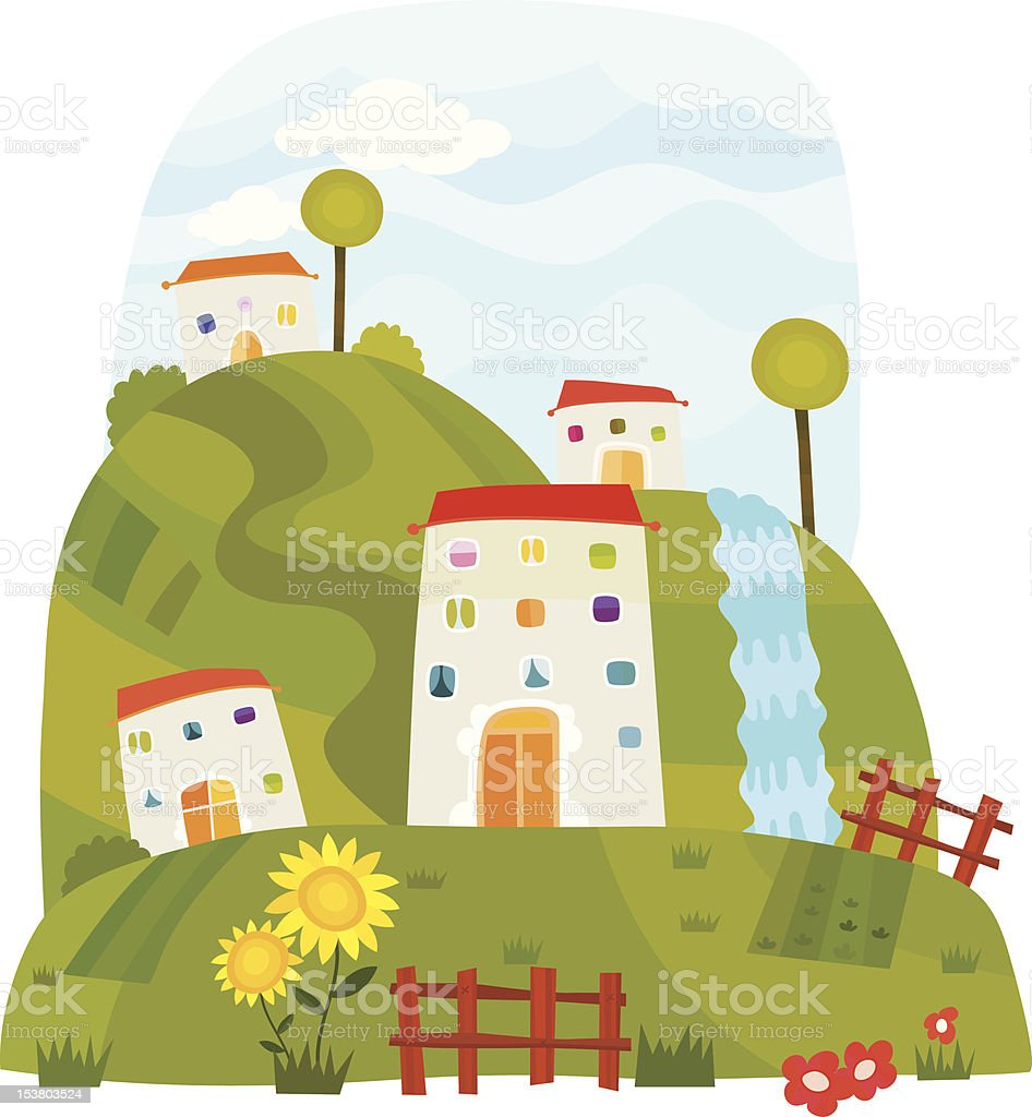 Nice Place royalty-free stock vector art