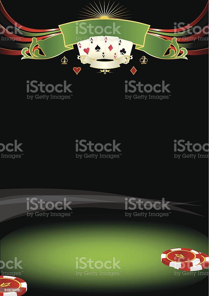 Nice poker background vector art illustration