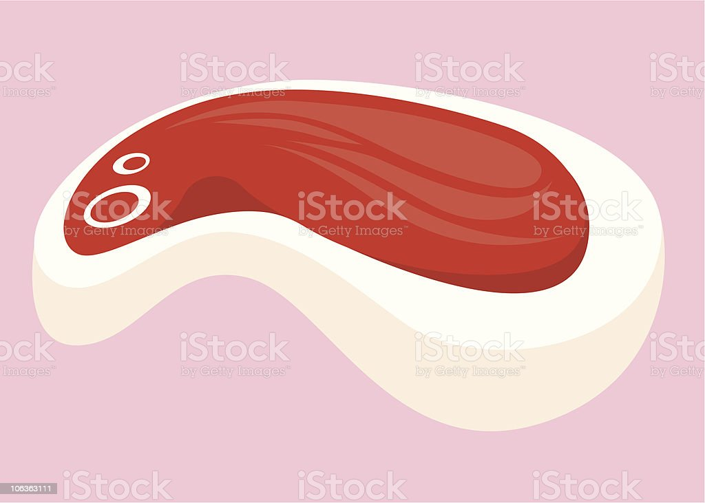 Nice to MEAT you. vector art illustration