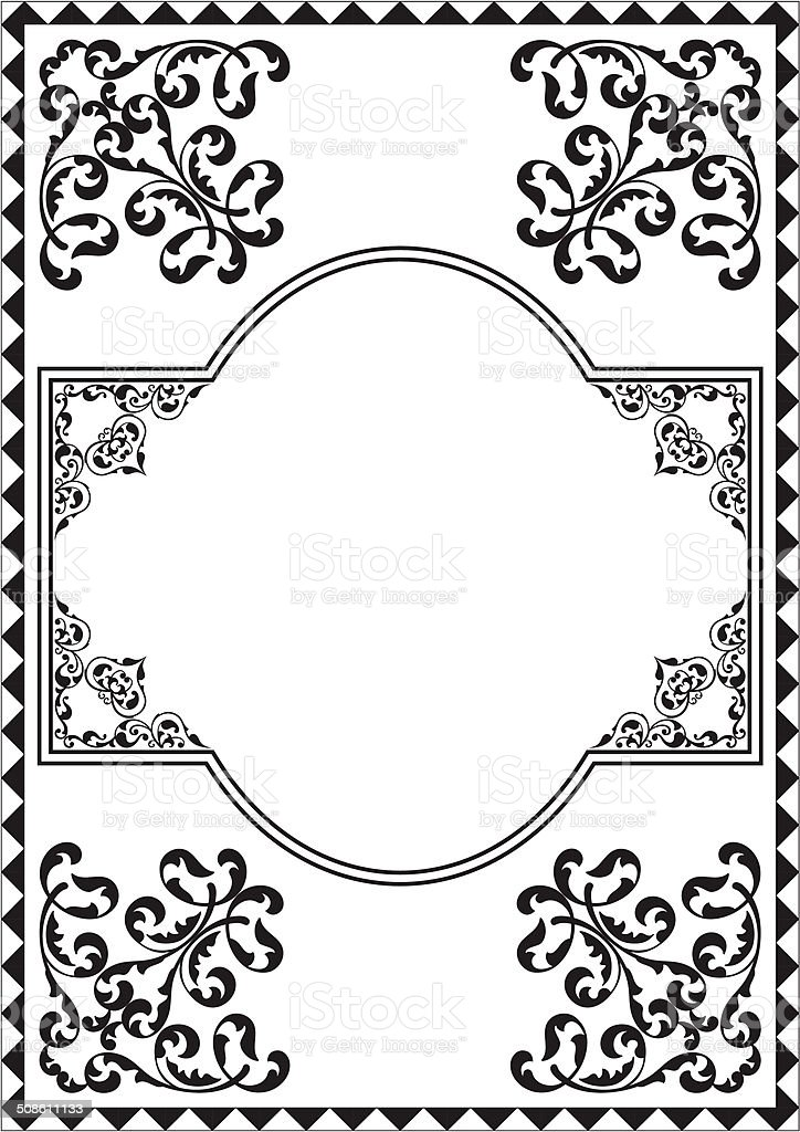 Nice vintage border vector art illustration