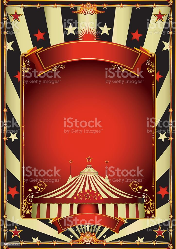 Nice vintage circus entertainment vector art illustration